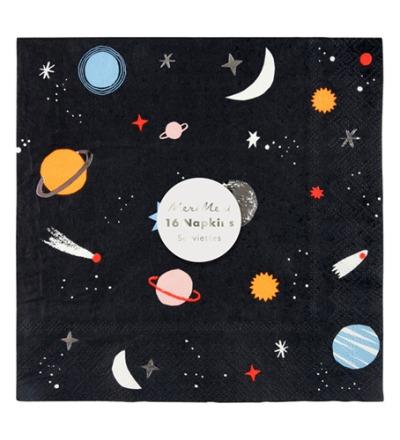 SPACE NAPKINS - meri meri