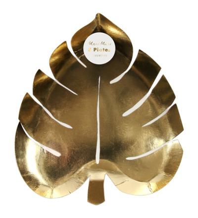 GOLD PALM LEAF PAPPTELLER von Meri Meri - Meri Meri