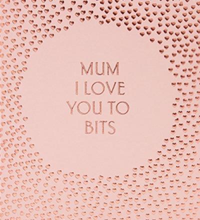 MUM, I LOVE YOU TO BITS Ich liebe dich über alles - Klappkarte mit Umschlag