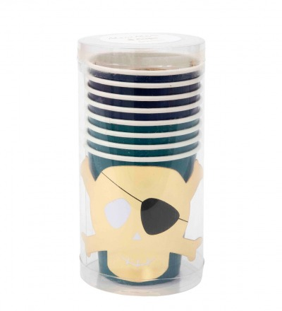 PIRATEN PAPPBECHER PIRATES BOUNTY PARTY CUPS