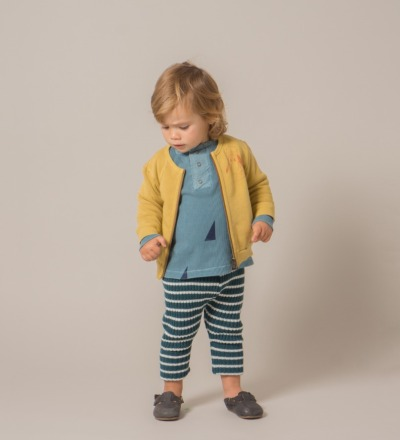 BABY KNITTED LEGGINGS BIG STRIPES - bobo choses