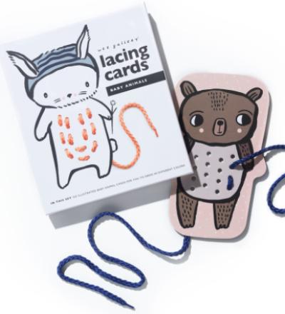 FÄDELSPIEL BABY ANIMALS LACING CARDS von Wee Gallery - Wee Gallery