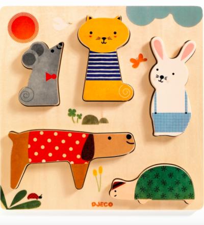 Holz-Puzzle Woodypets von Djeco - Djeco