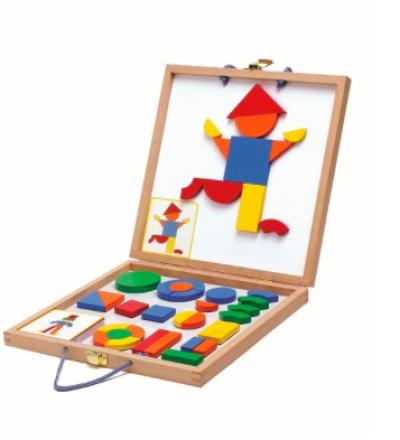 Holz-Magnete Spiel Geoforme von Djeco Djeco
