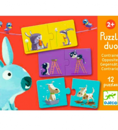 Lernspiel Duo Puzzle Gegensätze von Djeco