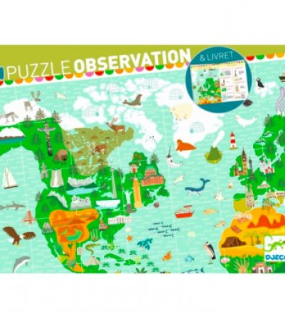 Entdecker-Puzzle Teile Reise um die Welt