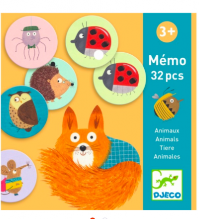 Memory Spiel Memo Tiere von Djeco