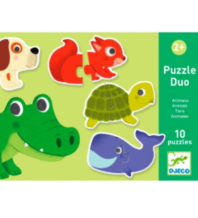 Puzzle Duo Tiere von Djeco Djeco