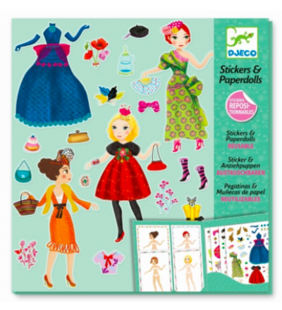 Stickerpuppen Set Paperdolls Massive Fashion von