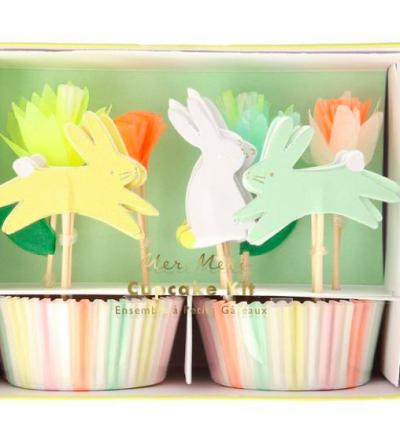 Floral Bunny Cupcake Kit von Meri