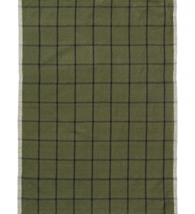Geschirrtuch Hale Yarn-Dyed Tea Towels Green/Black