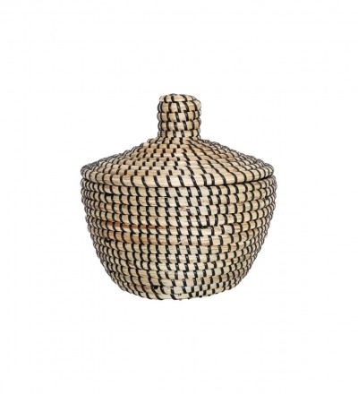 SEAGRASS BASKET WITH LID KORB MIT