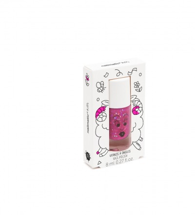 NAGELLACK FÜR KINDER SHEEPY PURPUR GLITZER / KIDS WATER NAILPOLISH SHEEPY von nailmatic - nailmatic