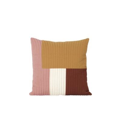 Kissen Shay Patchwork Quilt Cushion Mustard
