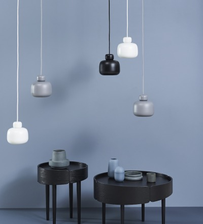 PENDELLEUCHTE STONE PENDANT SMALL - grey von WOUD Design - WOUD Design