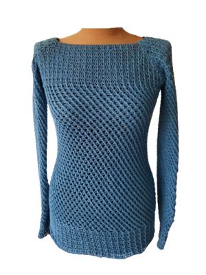 Pullover Maschenwirbel -kann beidseitig getragen werden-