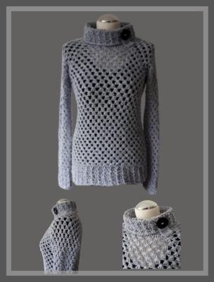 Granny-Pullover Kuschelwuschel - mit Rollkragen