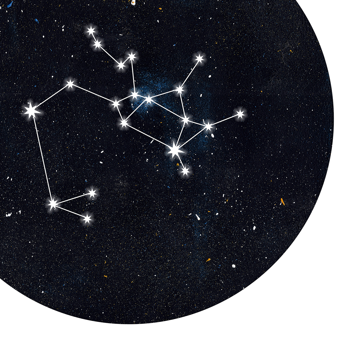 Sternzeichen Schütze Poster Kunstdruck DIN A4