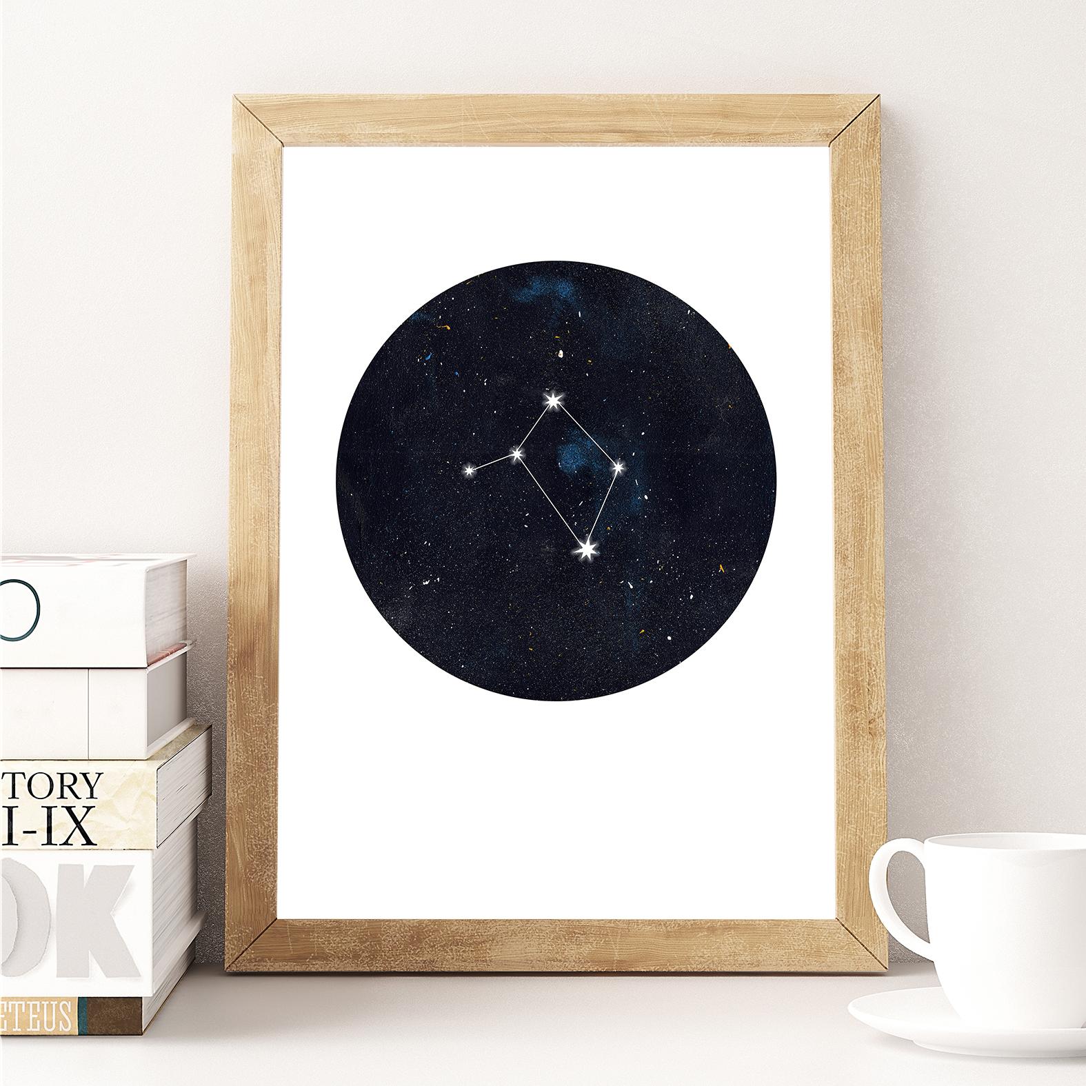 Sternzeichen Waage Poster Kunstdruck DIN A4