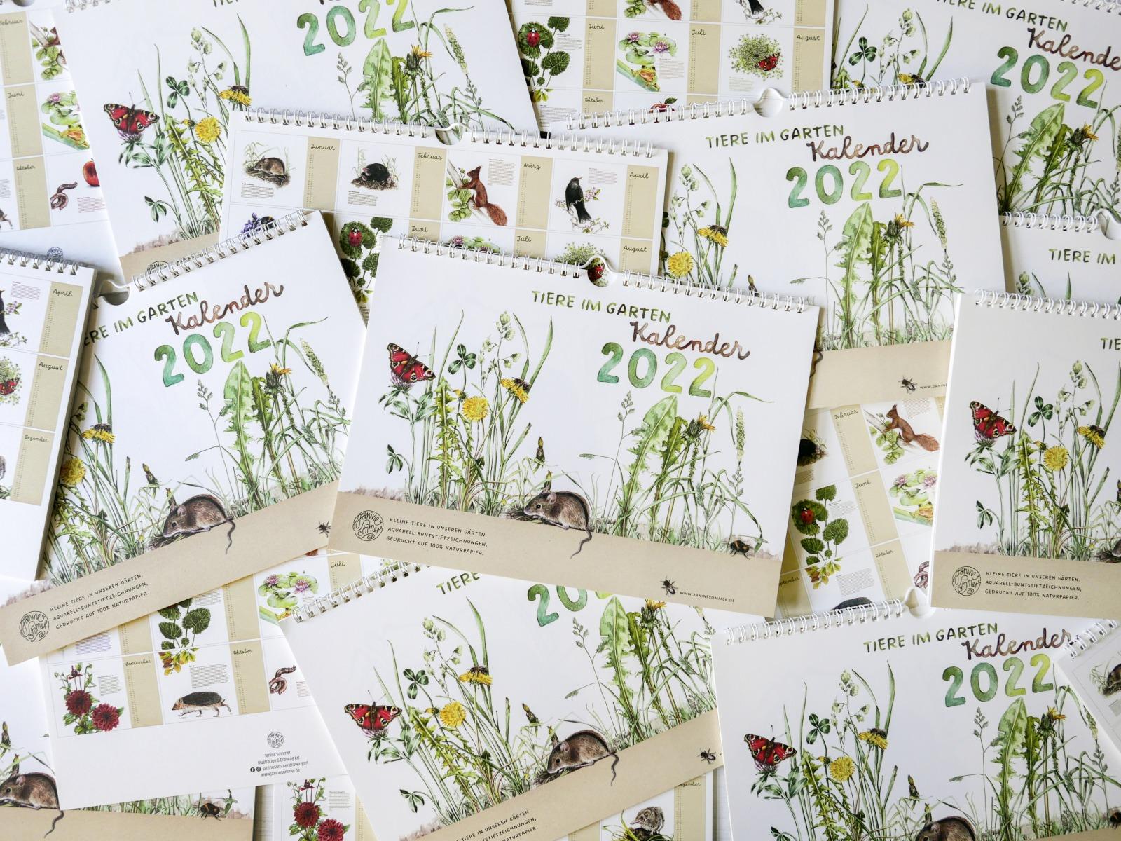 Tiere im Garten Kalender Wandkalender Tierkalender