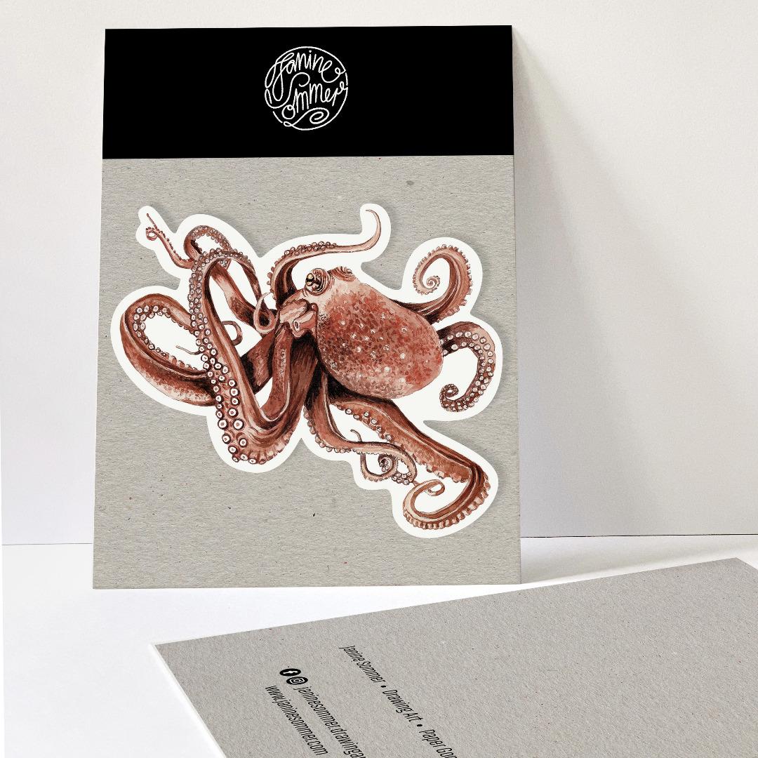 1 Sticker Octopus