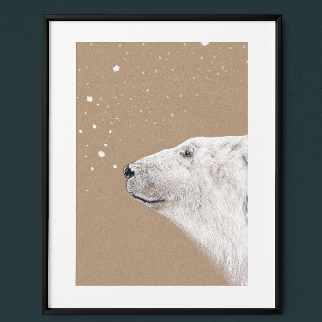 Polarbär Eisbär Poster Kunstdruck Zeichnung 5