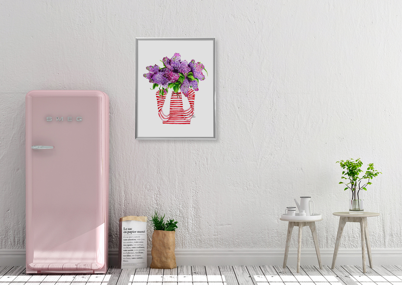 Ich träume von Flieder Poster Kunstdruck