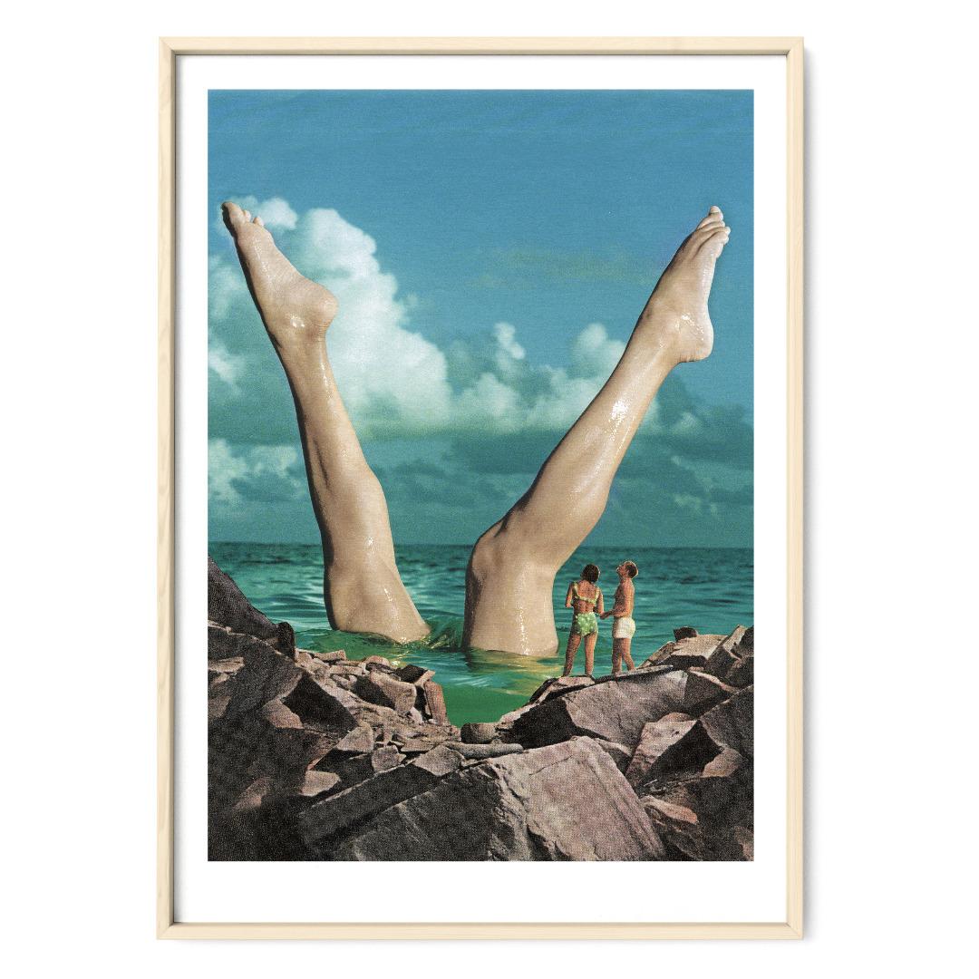 Schöne Beine Poster Kunstdruck DIN A3