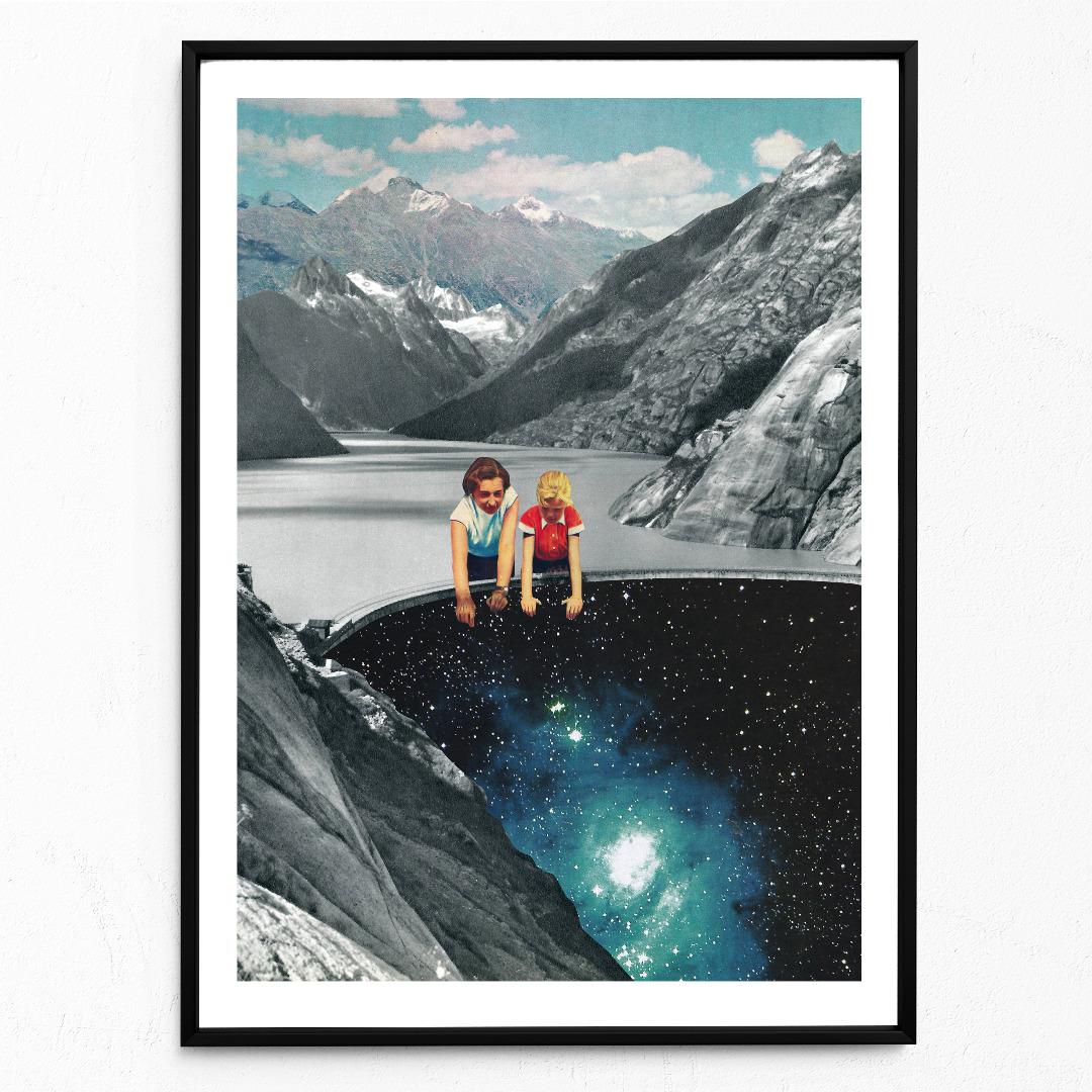 Abgrund Poster Kunstdruck DIN A3