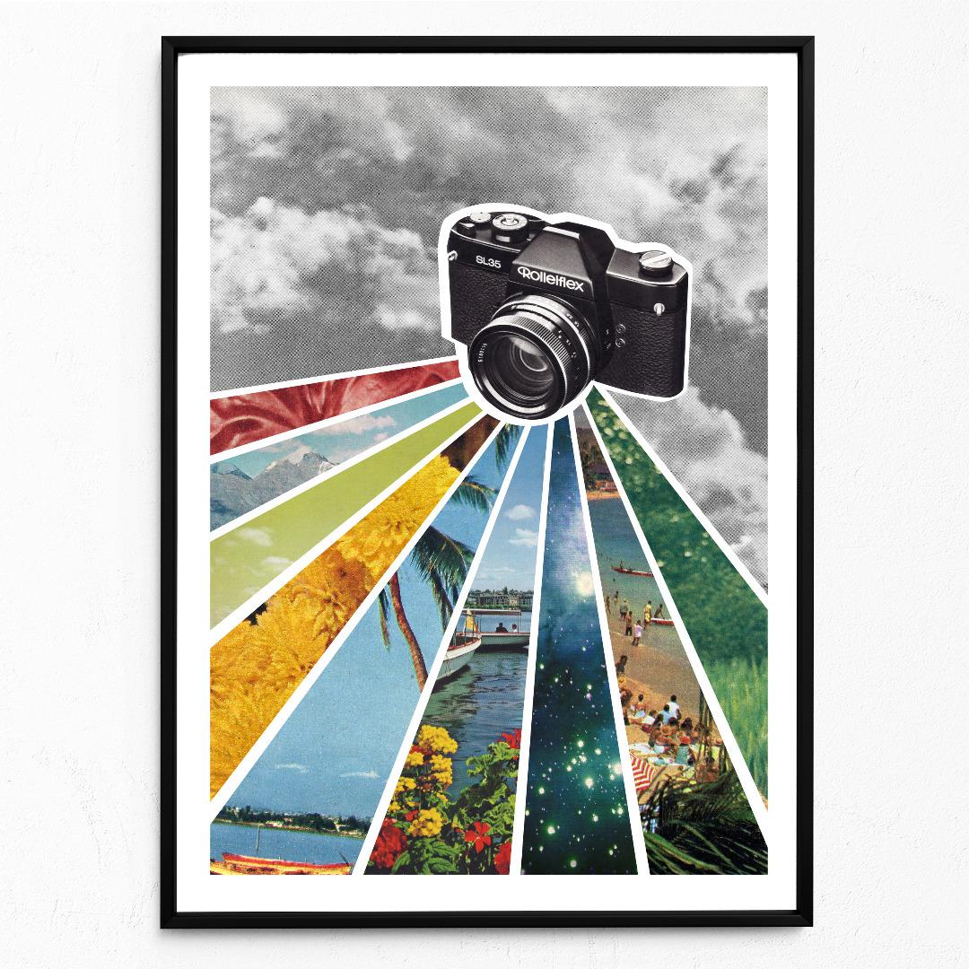 Analog Poster Kunstdruck DIN A3