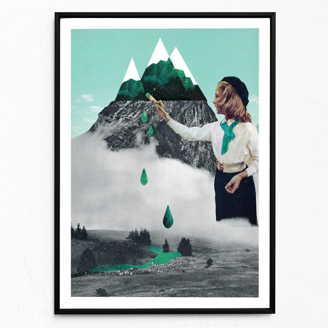 Malerei Poster Kunstdruck DIN A3