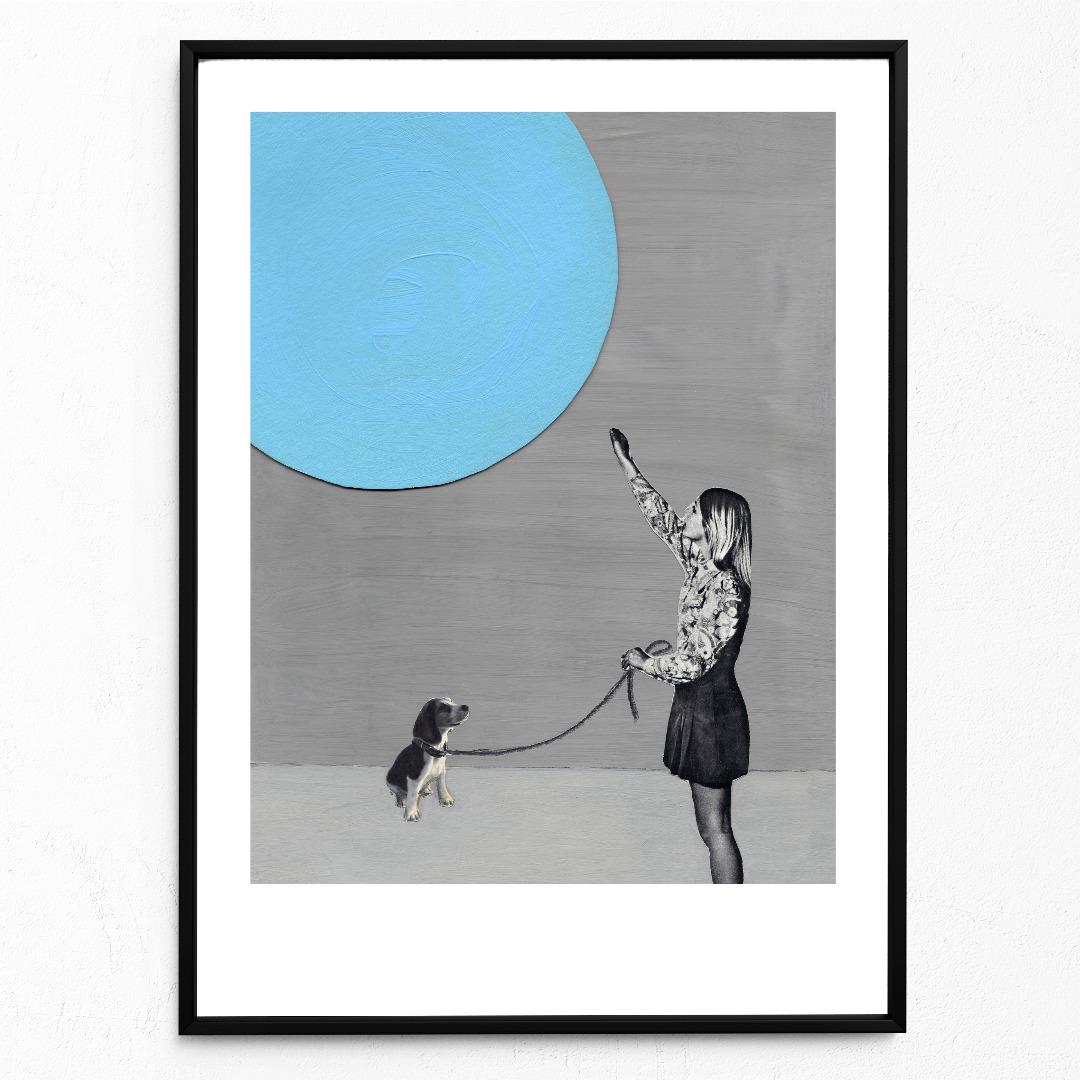 Mondsüchtig Poster Kunstdruck DIN A3