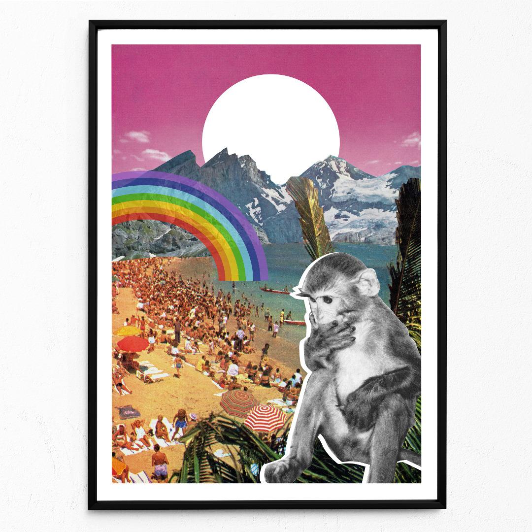 Waikiki Poster Kunstdruck DIN A3