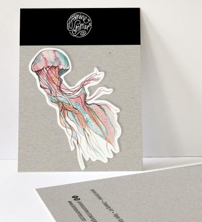 1 Sticker Jellyfish - Outdooraufkleber vegan