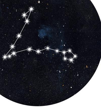 Sternzeichen Fische Poster Kunstdruck DIN A4