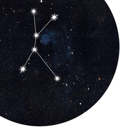 Sternzeichen Krebs Poster Kunstdruck DIN A4