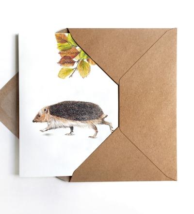 Grußkarte Igel Igelkarte - inkl Umschlag