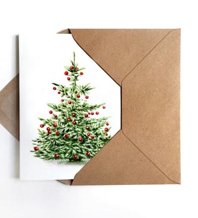 Weihnachtskarte Tannenbaum - inkl Umschlag