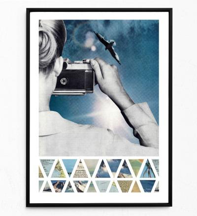 Gegenlicht Poster Kunstdruck DIN A3 Collage