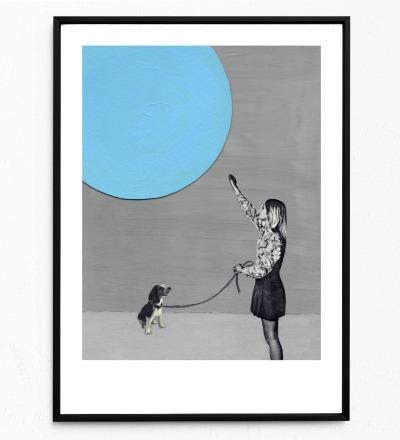 Mondsüchtig Poster Kunstdruck DIN A3 Collage