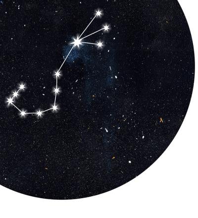 Sternzeichen Poster Kunstdruck DIN A4 Mischtechnik