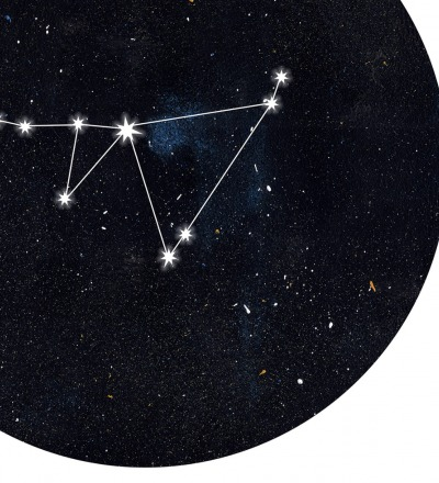 Sternzeichen Steinbock Poster Kunstdruck DIN A4