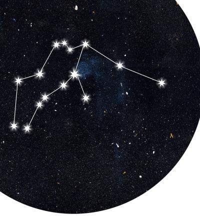 Sternzeichen Wassermann Poster Kunstdruck DIN A4