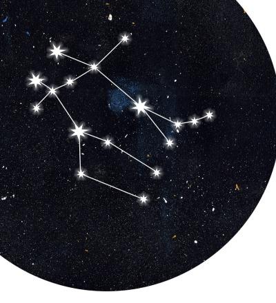Sternzeichen Zwilling Poster Kunstdruck DIN A4