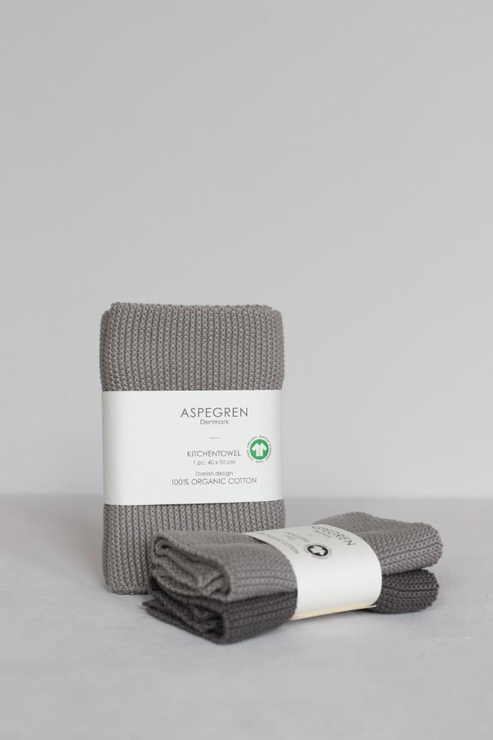 Gestricktes Hand- & Geschirrtuch Solid Gray