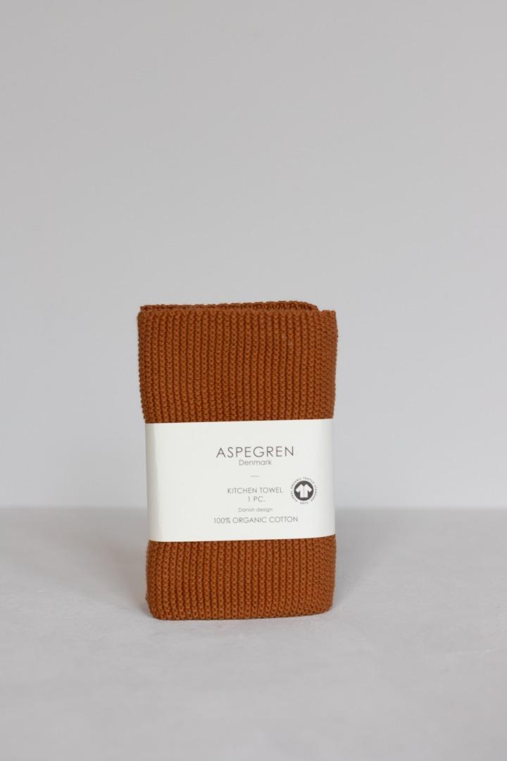 Gestricktes Hand- & Geschirrtuch Solid Pumkin