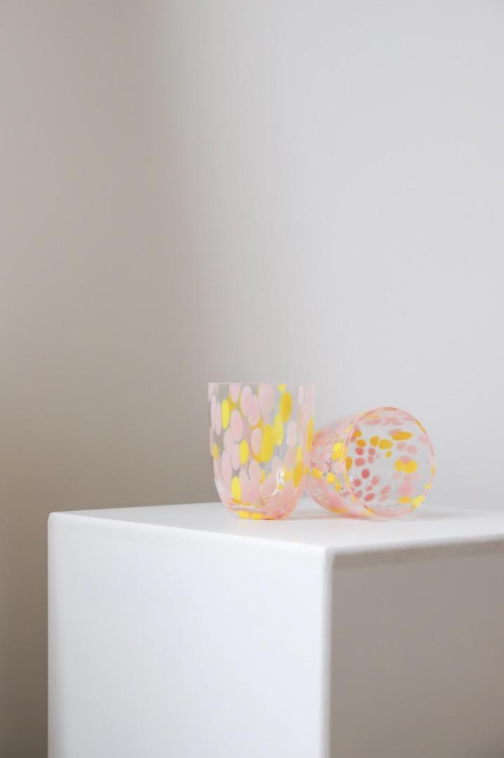 Trinkglas Big Confetti - Rosa /