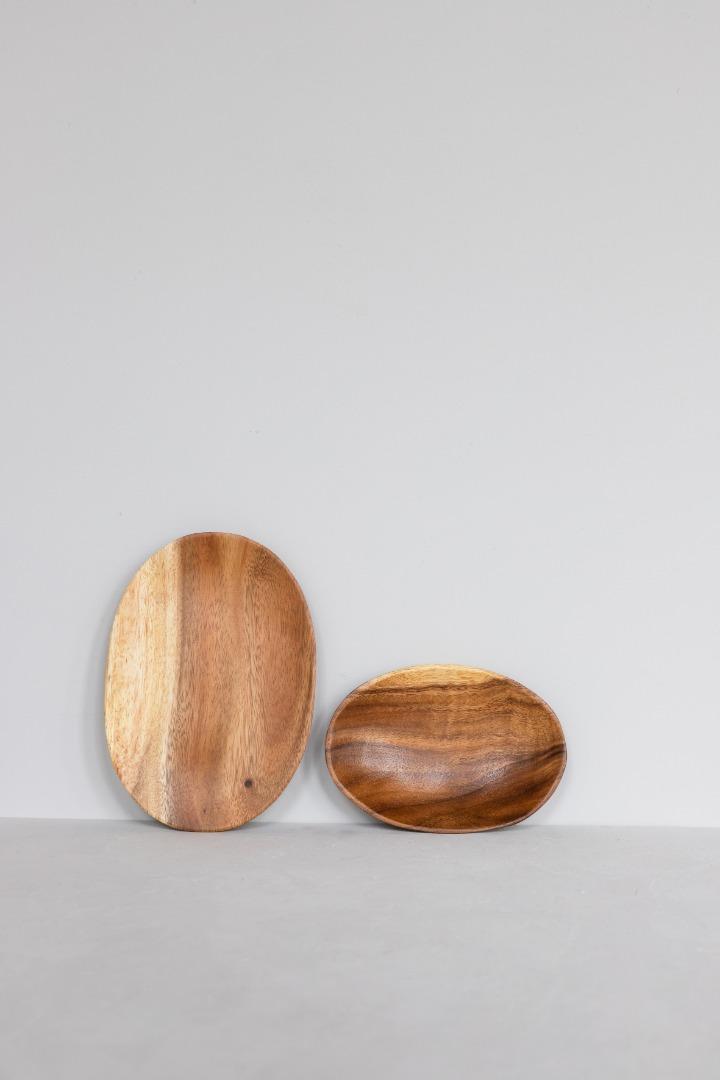 Ovaler Holzteller