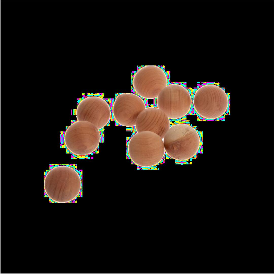 Zedernkugeln in Baumwollbeutel