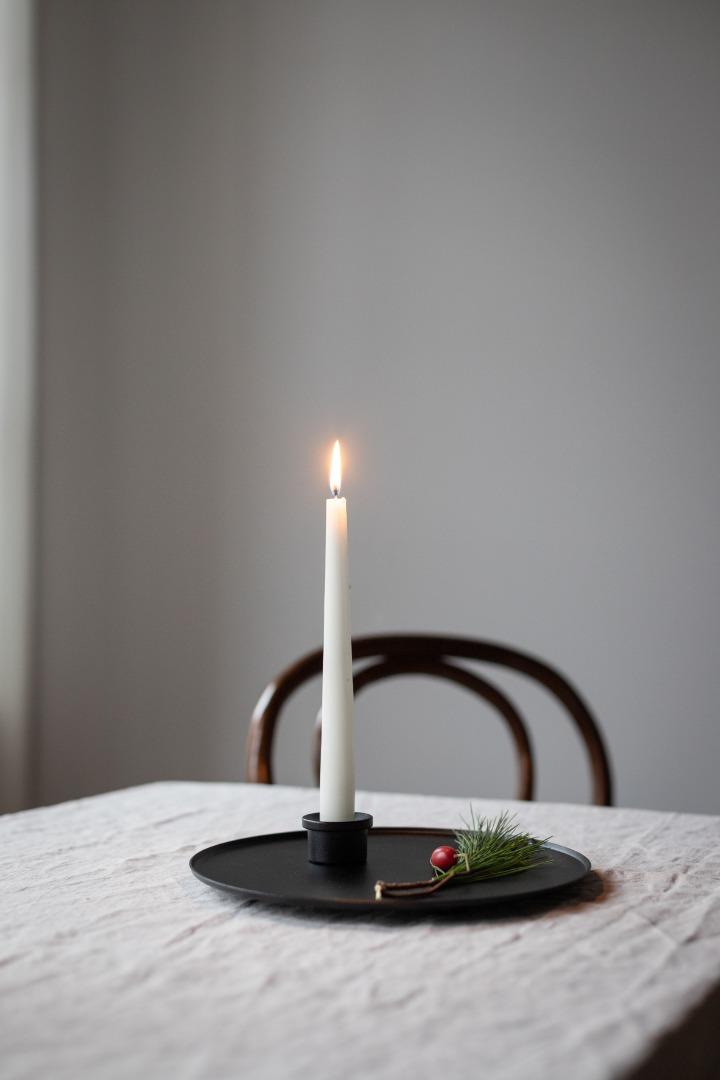 Tablett mit Kerzenhalter Ljusfat 2